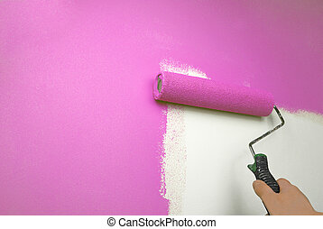牆, 畫, 手