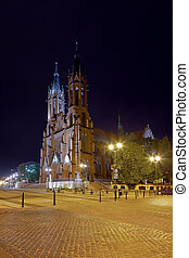 Basilica in Bialystok - Cathedral Basilica at Night in...
