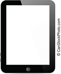 Vector tablet. Isolation over white background