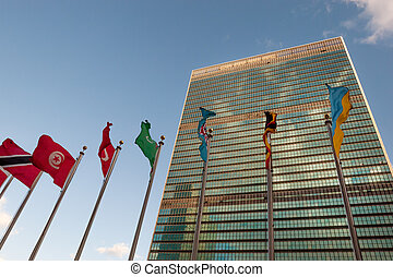 UN in session - United Nations headquarters in New York
