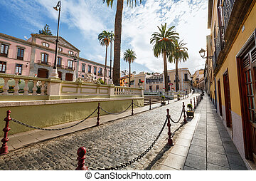 La Orotava. Tenerife, Canary Islands, Spain - Calle Carrera...