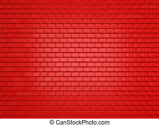 Red Leather stitched background with scales texture