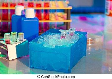 reação, plástico, tubo, caixa, cheio,...