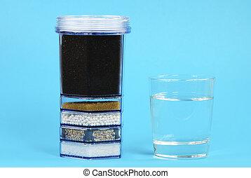 agua, purificación, filtro