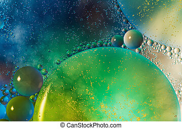 multicolor water - beautiful colorful water surface with...
