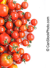 tomatoes background - fresh natural vegetable background...