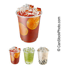Take away drinks - Take away red black tea with slice of...
