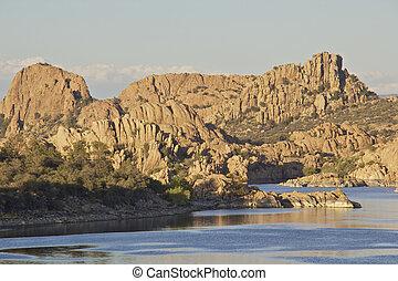 Watson lake Prescott Arizona Scenic - a scenic landscape of...
