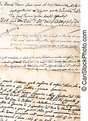 4 handwritten - 4 manuscripts of the 1700/1800 century
