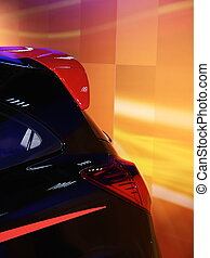 Modern car back side design - Backside design of modern...