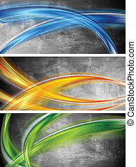 Colourful waves banners