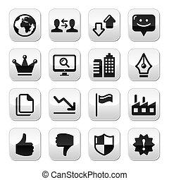 Web internet buttons set - vector - Modern application...