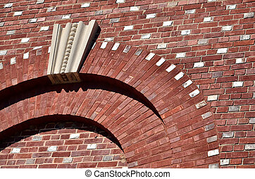 Art deco style brickwork - Art deco style arches on exterior...