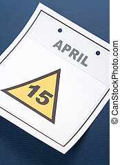 Calendar Tax Day - Tax Day, calendar date April 15 for...