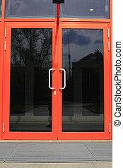 puerta, vidrio