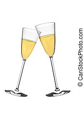 sparkling wine - An image of two glasses of sparkling wine