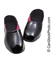 black rubber galoshes - overshoe for rainy weather - rubber...