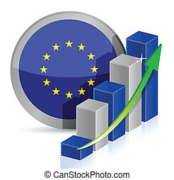 european flag Business illustration design over a white...