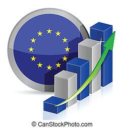 european flag Business illustration design over a white...