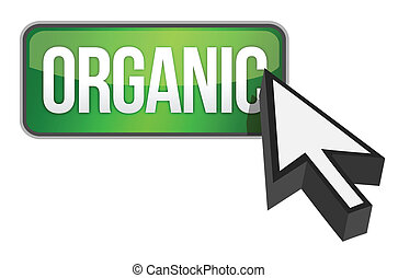 Organic green 3d banner with white text