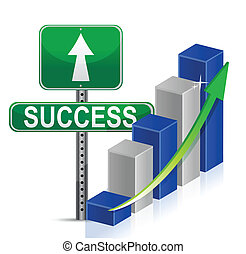 success Business illustration design over a white background