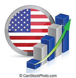 US Business illustration design over a white background