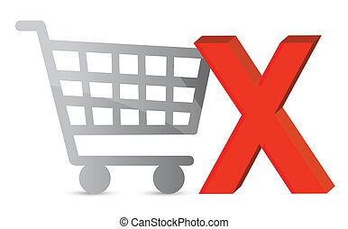 Shopping cart with a green check mark.