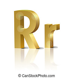 Vector letter R