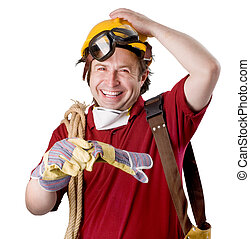 happy construction worker - young and happy construction...