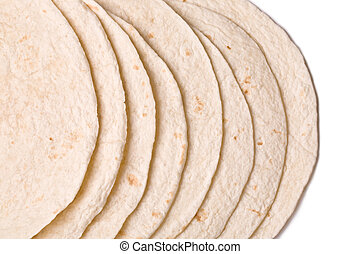 cierre, Arriba, imagen, trigo, Tortillas, contra, blanco,...