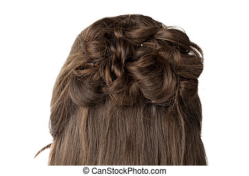 braid blonde hair - Close-up image of a braid blonde hair...