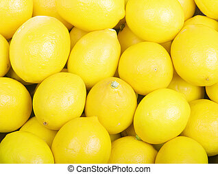 Lemons - Yellow Organic Lemons Fill the Frame