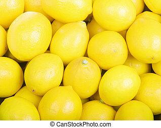 Lemons - Yellow Organic Lemons Fill the Frame