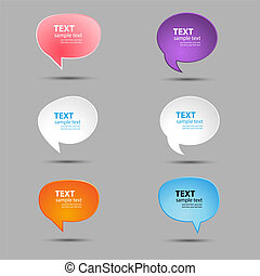 bubbles - Speech bubbles for text in bright colors. A vector...