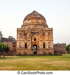Lodi Gardens Islamic Tomb Bara Gumbad set in landscaped...