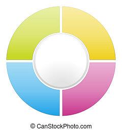 color cycle diagram - Vector color cycle diagram...