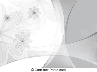 abstract floral background, vector template