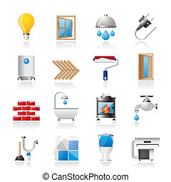 Construction and home icons - Construction and home...