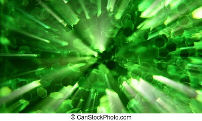 abstract mystical green light 2