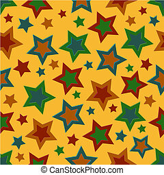 Bold Stars Border - A stars border illustration in fall...
