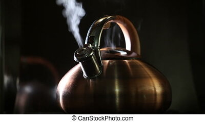 boiling kettle on a black background 6 - boiling kettle on a...
