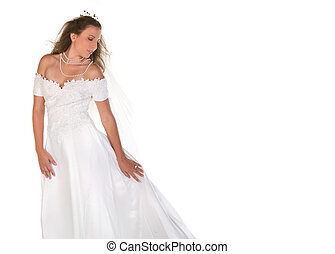 Beautiful Bride Looking Down