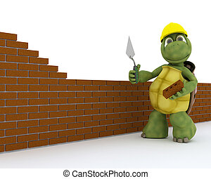 tortoise building contractor - 3D render of a tortoise...