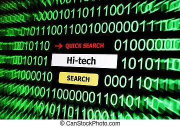 Hi tech search