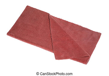 red folded duster