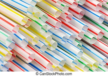 Straws - Many colorful drinking straws