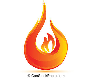 Fire flames logo vector eps10 with vivid colors