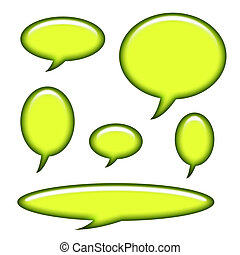 Captions and Speech Bubbles Isolated on White Background