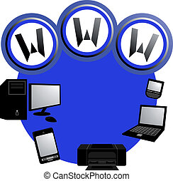 Internet icon - Creative design of internet icon