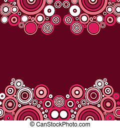 Pink modern art vector - This image is a vector illustration...
